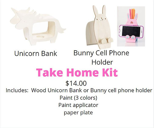 Unicorn Bank or Bunny Cell Phone Holder