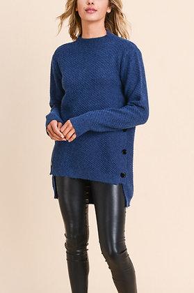 Doe & Rae Side Button Sweater