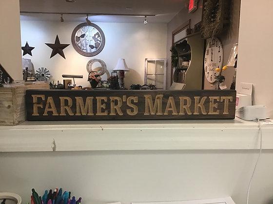 Farmer's Market - Block Sign