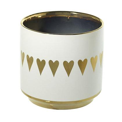Gold Heart Spade Pot