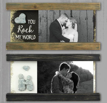 Wood Stone Picture Frame