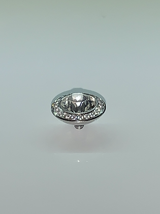 Crystal 13mm TONDO Deluxe-Crystal-Bordered Topper