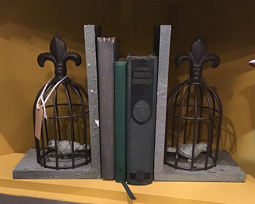 Birdcage Bookends (Set of 2)