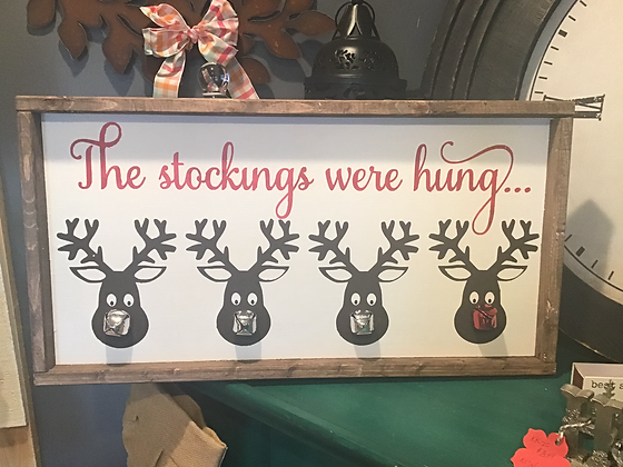 The Stockings Were Hung...Reindeer