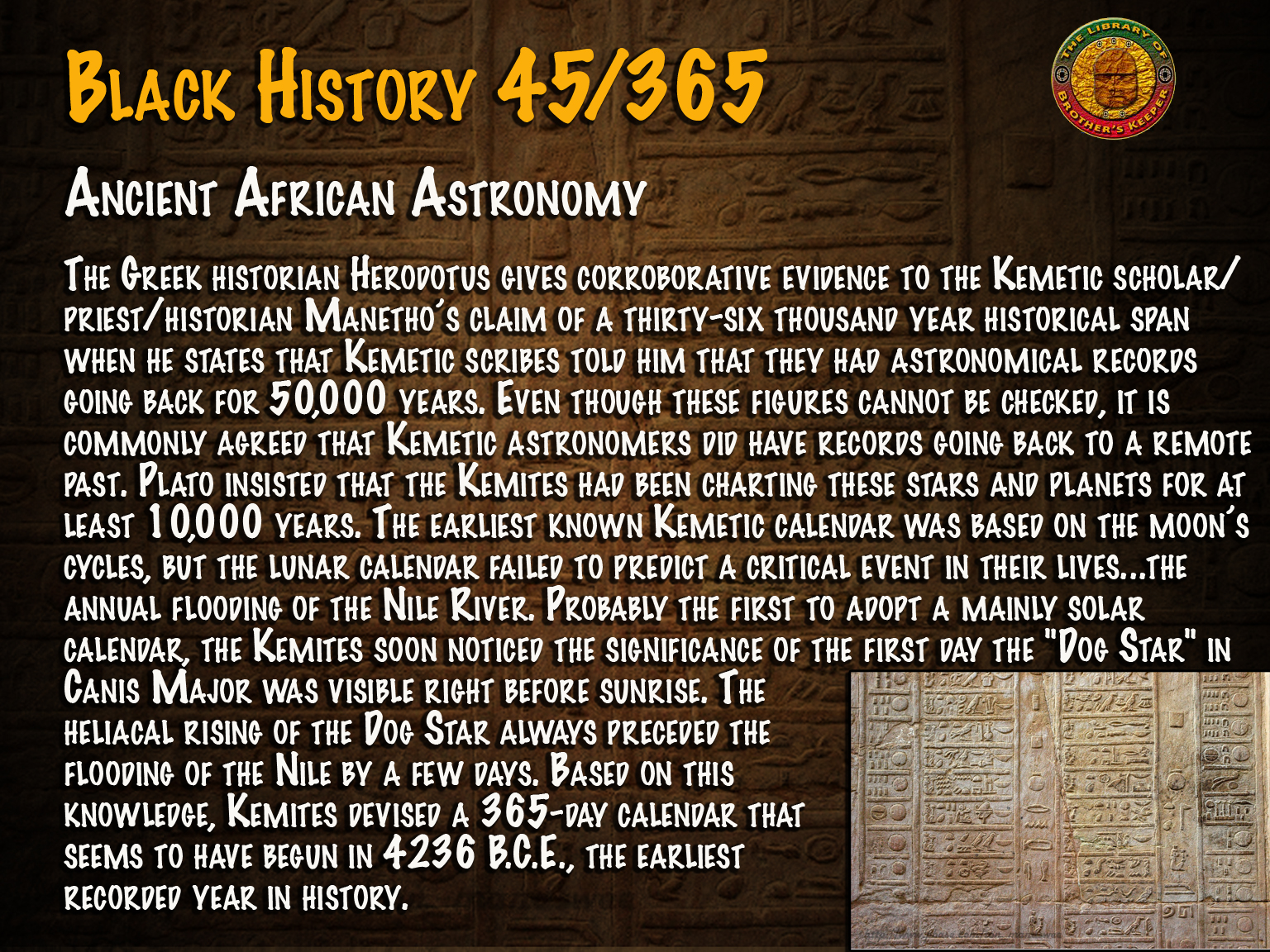 Ancient African Astronomy