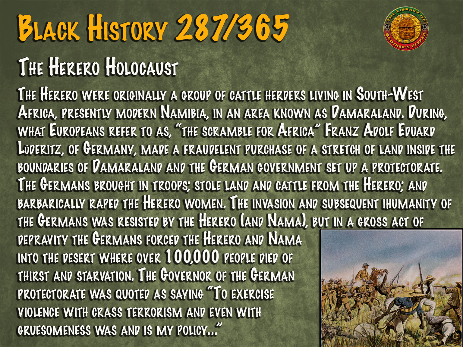 The Herero Holocaust