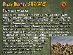 The Herero Holocaust