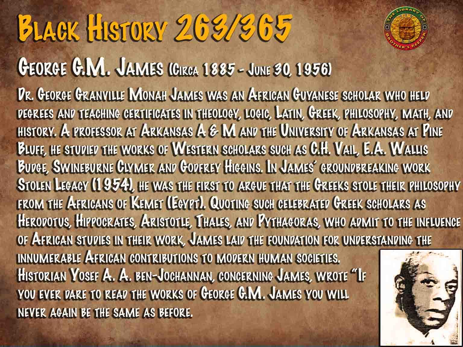 George G.M. James