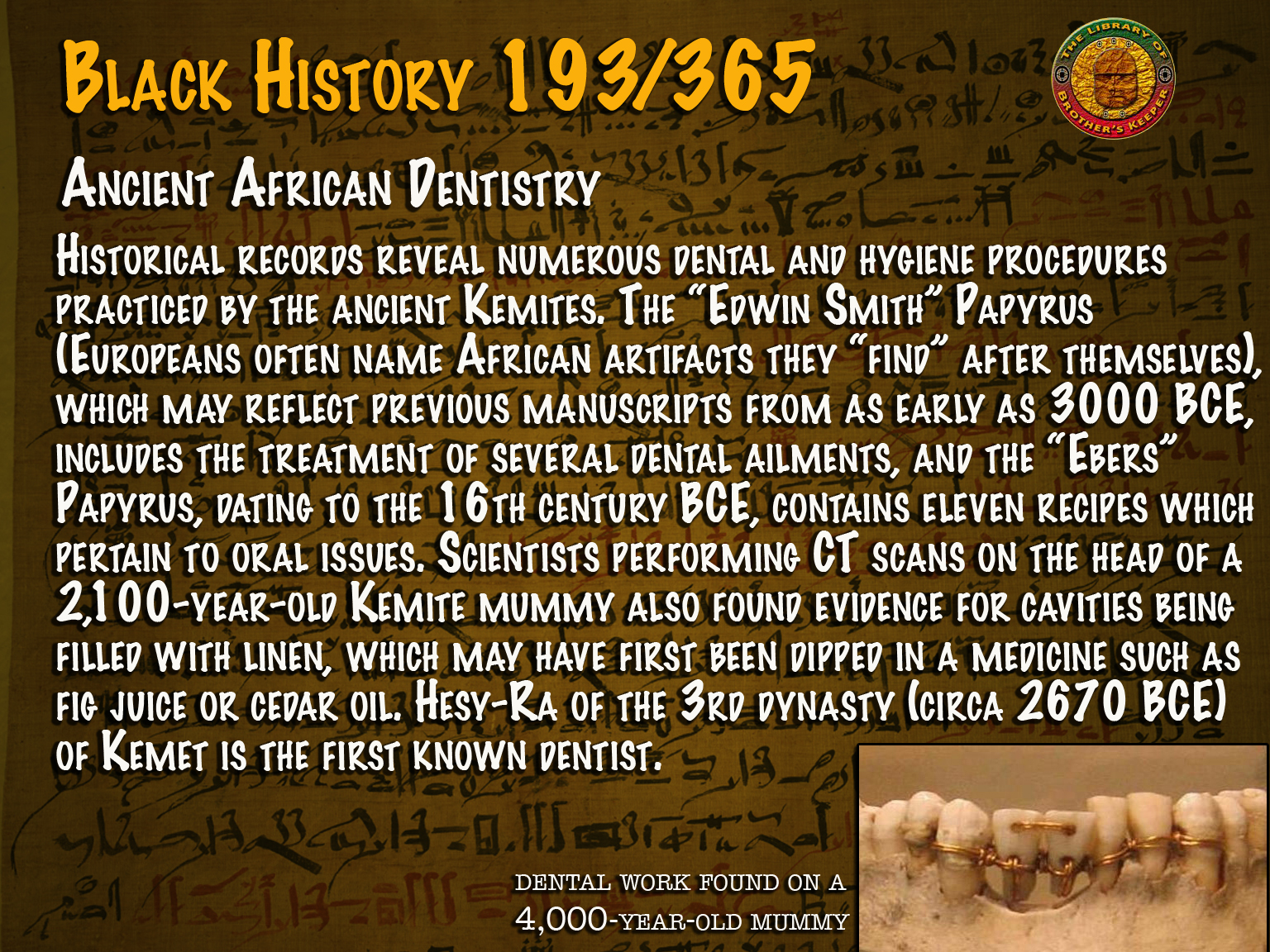 Ancient African Dentistry