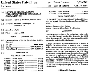 Cure for AIDS - U.S. Patent 5676977