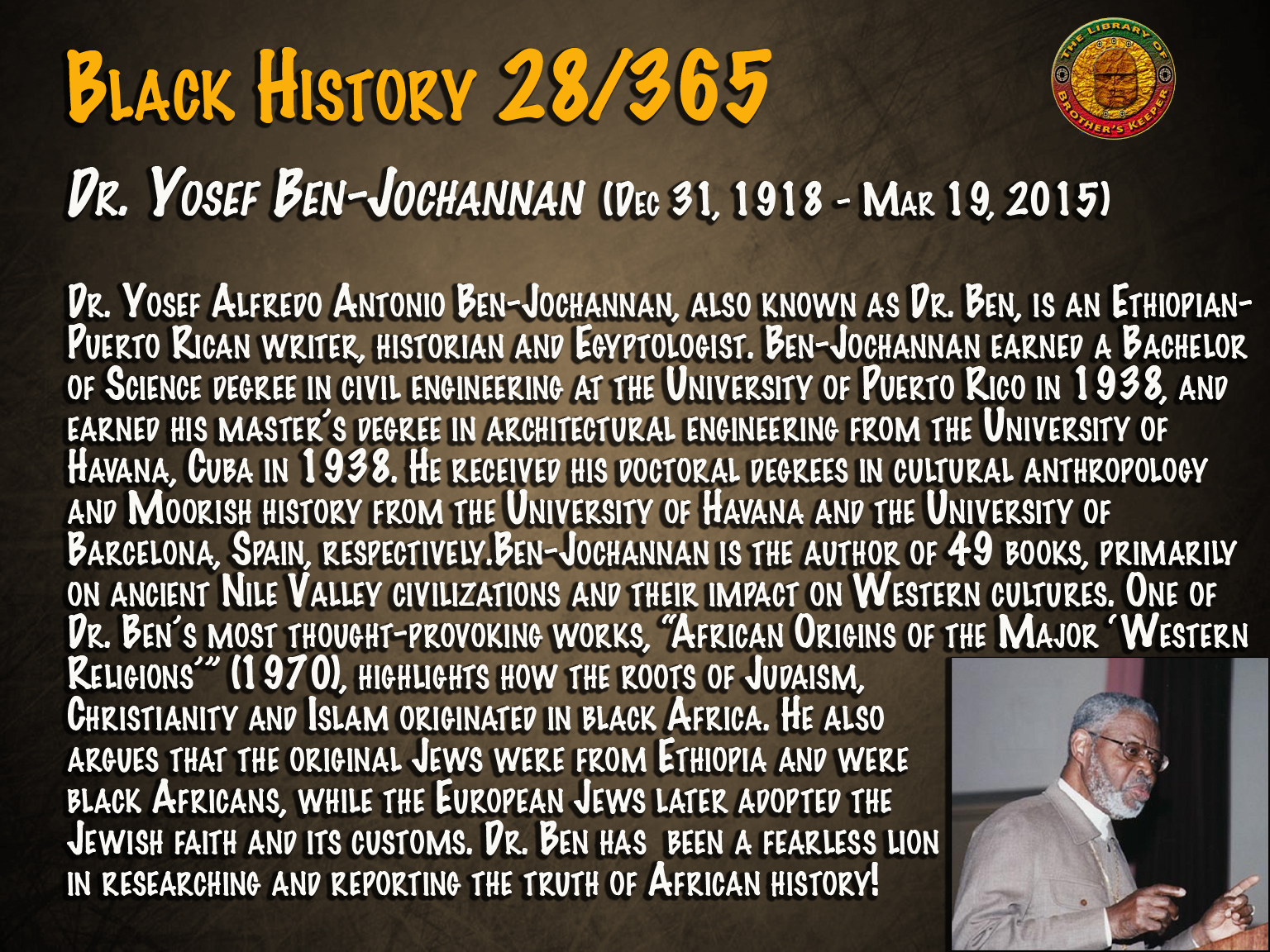 Dr. Yosef Ben Jochannan