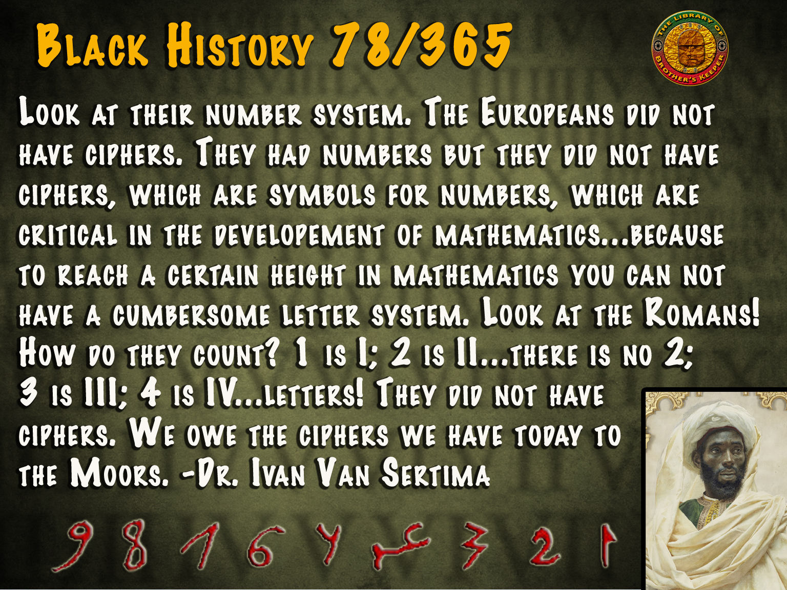 Ciphers Replace Roman Numerals