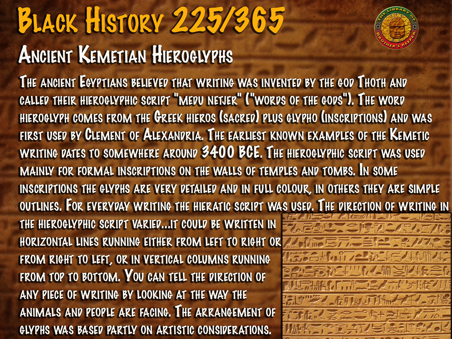 Ancient Kemetic Hieroglyphs
