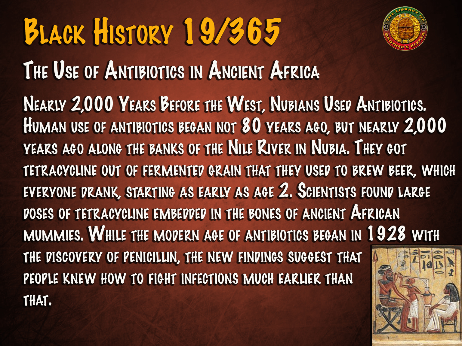Antibiotics in Ancient Africa