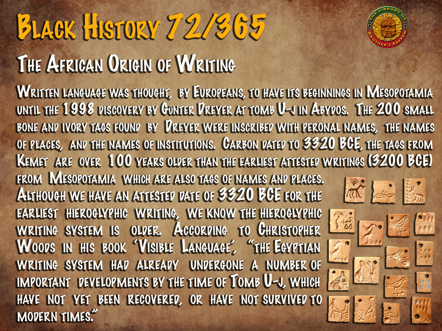 The African Origin of Writing