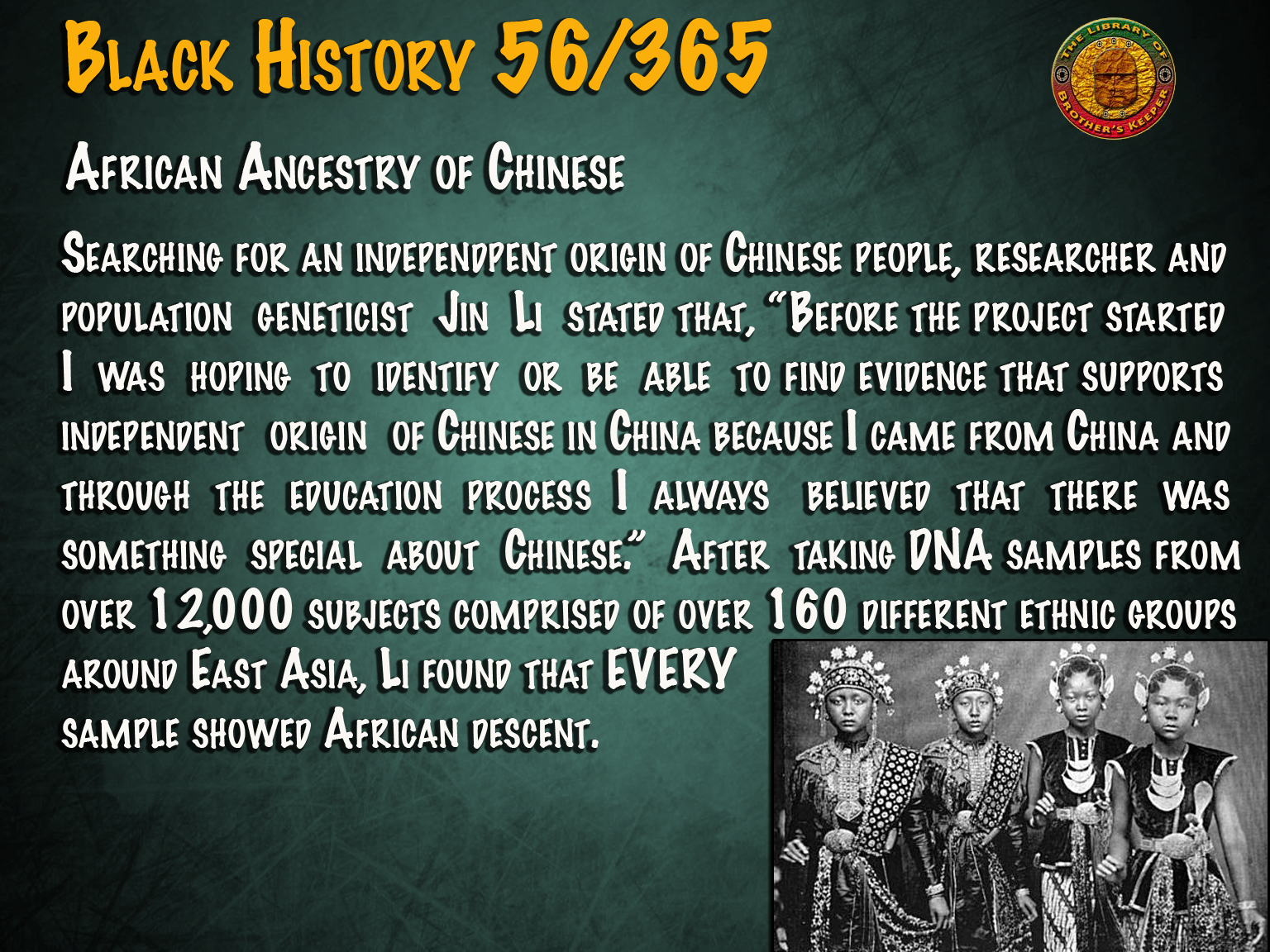 African Ancestry of Chinese