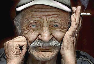 Beautiful old man's face