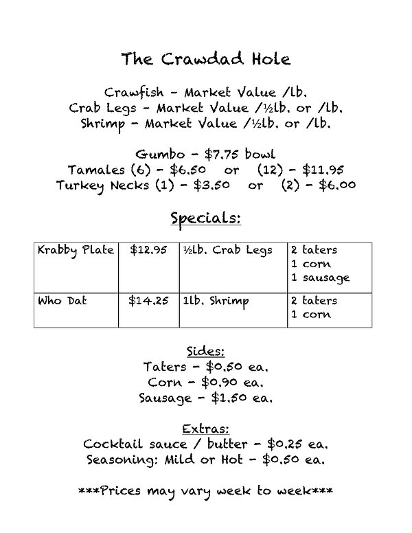 The Crawdad Hole Menu.jpg