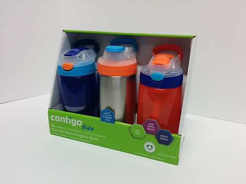 Contigo 康迪克儿童防漏水杯组合装3件套组合