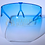 Thumbnail: CB Gradient Face Shield Sunglasses