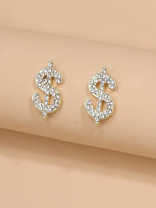 Dollar Design Stud Earrings
