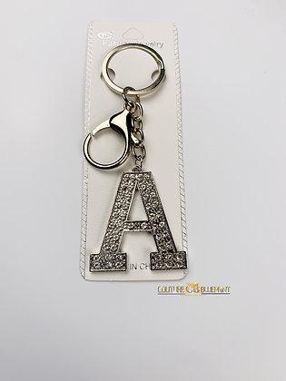 Sliver Letter Keychain