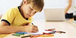Play Therapy with Karen Hammond in Schools - Boy Drawing