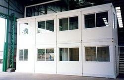 oficinas dentro de un galpon