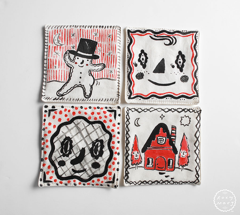 Holiday Home Cozy Home coasters
