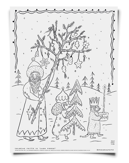 Snow Parade -  Coloring Poster Download