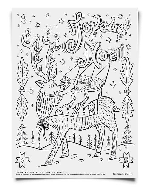 Joyeux Noel -  Coloring Poster Download