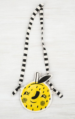 """Lemon Face"" pocket purse"