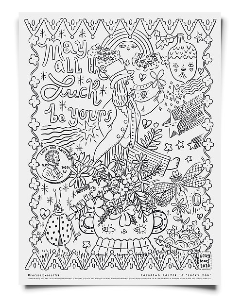 Lucky You Coloring Poster Download