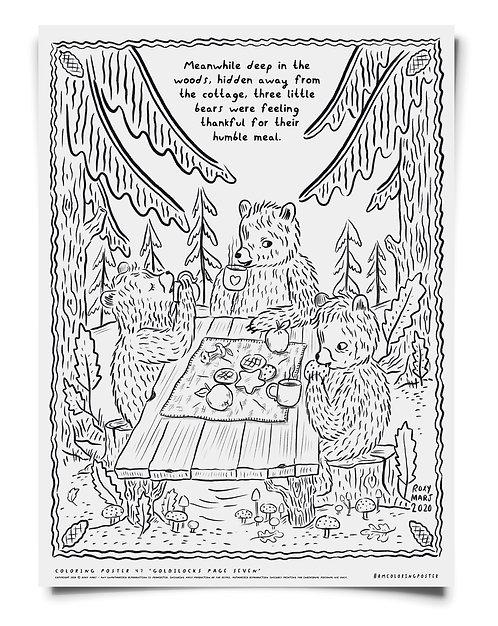 Goldilocks pt 3 -  Coloring Poster Download
