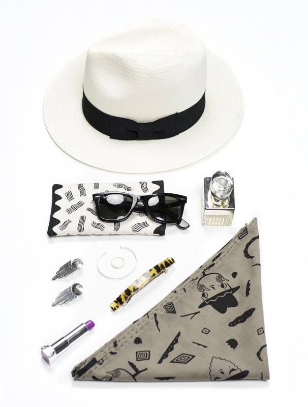 """Deco"" sunglasses case & Scarf"