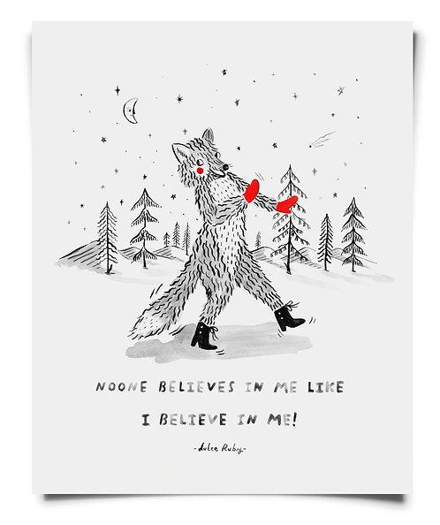Dancing Fox - Art Print