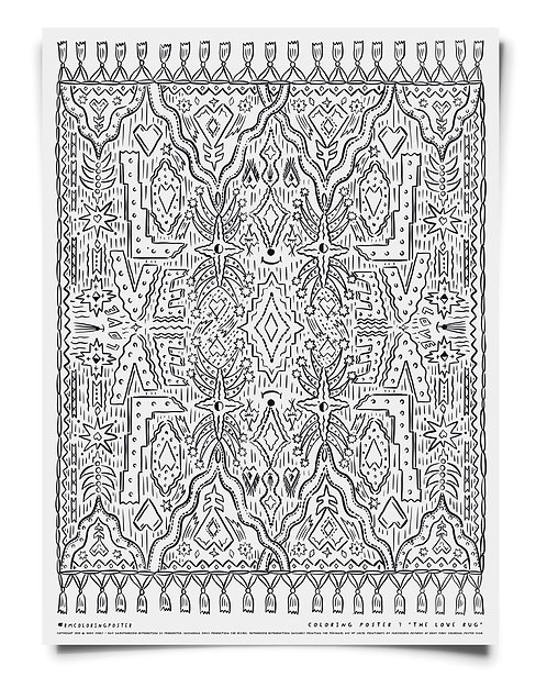 The Love Rug Coloring Poster Download