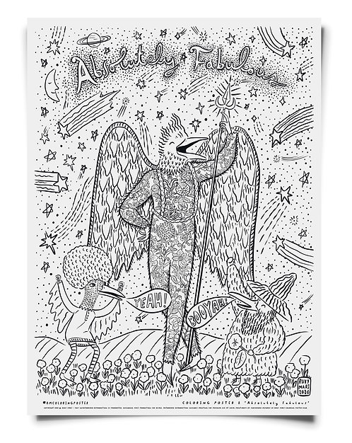 Absolutely Fabulous Coloring Poster Download