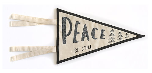 "GLITTER ""Peace Be Still"" Pennant"
