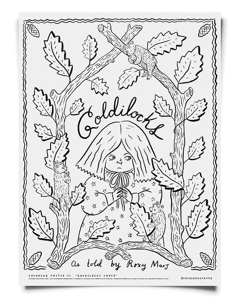 Goldilocks pt 1 -  Coloring Poster Download