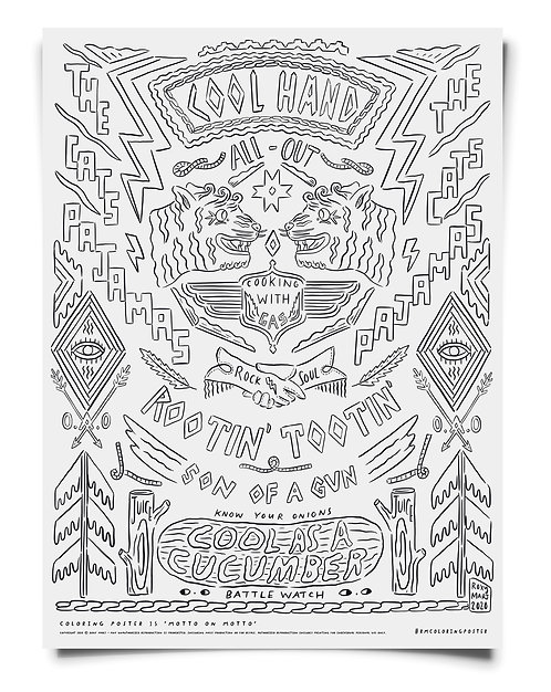Motto on Motto Coloring Poster Download
