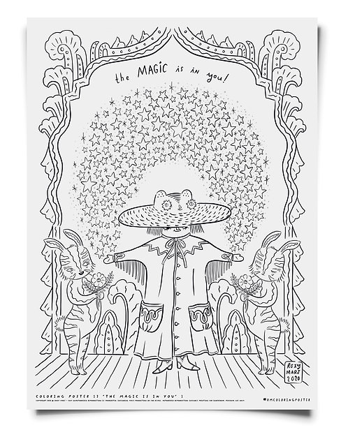 The Magic Is In You Coloring Poster Download