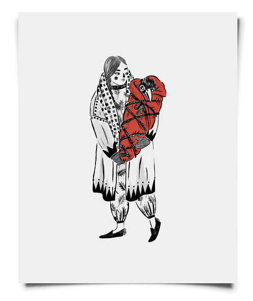 Crow Baby - Art Print
