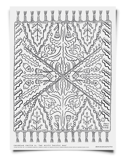The Misty Thistle Rug Coloring Poster Download