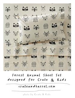 roxymarjforestanimal sheet set for Crate