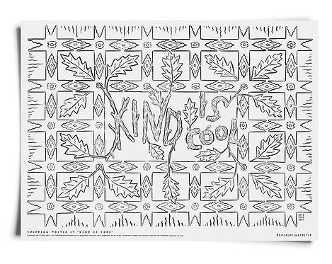 Kind is Cool Coloring Poster Download