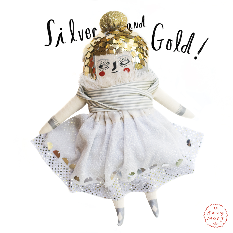 Silver and Gold Doll