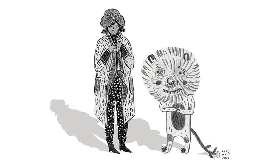 gypsy woman and dandylion_roxymarj.jpg