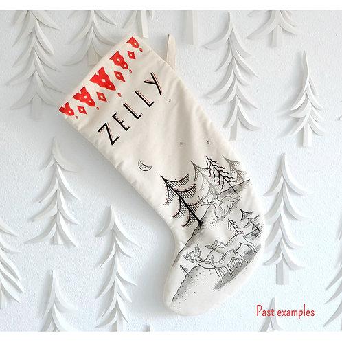 FULL CUSTOM Hand Painted Stocking