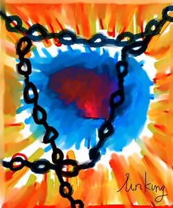 Dark Chains Red Heart